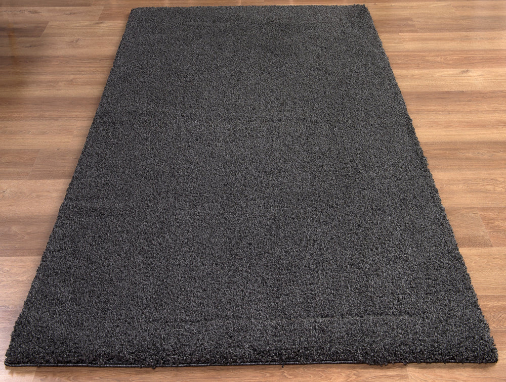 Empire Shaggy Charcoal Luxury Shaggy Rug Femme Rugs