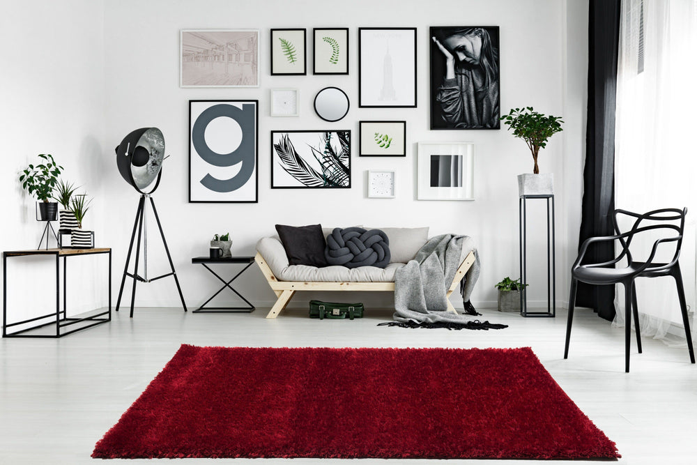Ottova Red Luxury Shaggy Rug The Rug Way