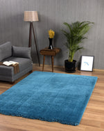 Premium Soft Shaggy | Aquamarine Blue Rug
