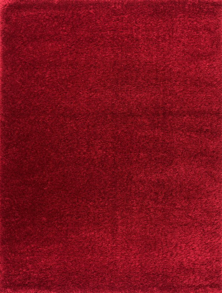 Premium Soft Shaggy | Red Luxury Shaggy Rug The Rug Way