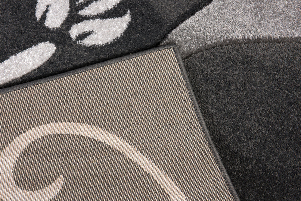 Primrose Modern Rug | Grey-Silver Modern Rugs The Rug Way