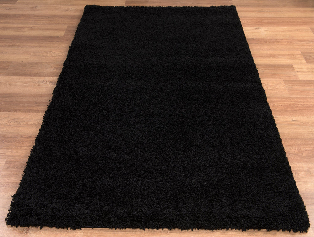 Shaggy Rug | Black Luxury Shaggy Rug The Rug Way