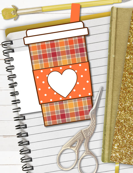 printable coffee planner tab for planners