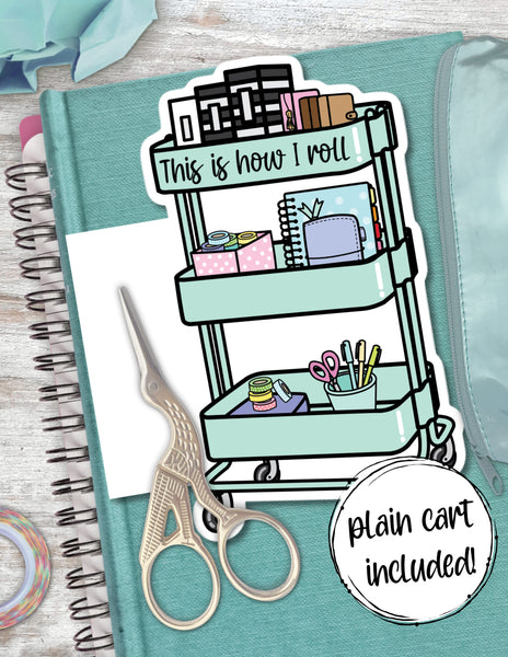 printable planner cart die cut