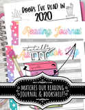 """Totally Lit"" Book Lovers Printable Planner Tab Divider Page Marker"