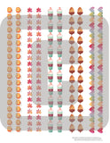 printable fall washi with pumpkins leaves acorns and lattes