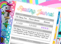 printable reading journal log tracker