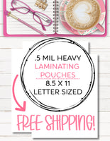 .5 mil laminating pouches