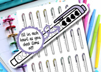 printable checklist stickers for planners or bullet journals