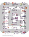 printable fall bucket list planner stickers for planner decorating