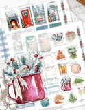 Printable Christmas Planner Sticker Kit- Country Farmhouse