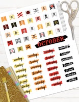 day of the dead planner stickers