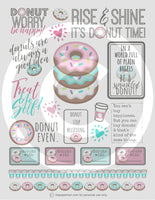 Printable Happy Planner Stickers for Donut Lovers