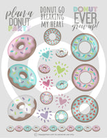 printable donut planner stickers