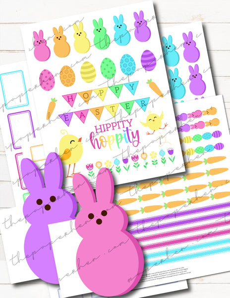 easter planner stickers kit
