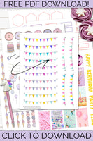 FREE SUBSCRIBER SAMPLE: Printable Birthday Banners!
