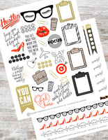 girl boss planner stickers