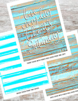 Live Everyday Like it's Saturday Printable DIY Happy Planner Cover