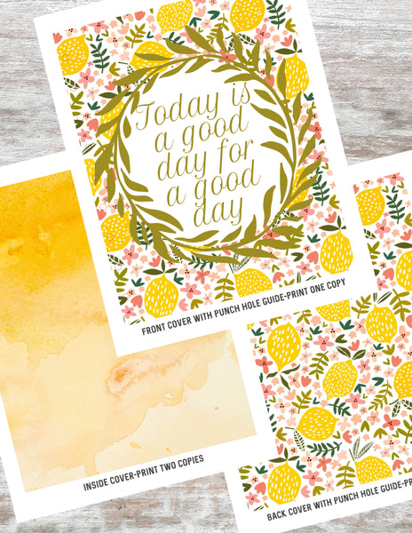 picture relating to Today is a Good Day for a Good Day Printable identify Printable Planner Handles The Paper Rooster