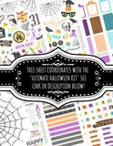 Neon Rainbow Halloween Printable DIY Custom Happy Planner Cover