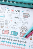 coffee printable planner stickers