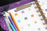 Halloween Planner Month, Daily Stickers for the Happy Planner
