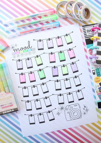 printable mood tracker for planners or bullet journals
