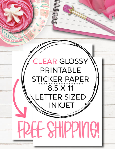 clear glossy printable sticker paper for injet printers