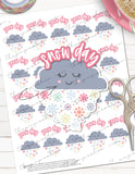 printable snow day planner stickers