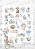 printable vegetable garden planner stickers