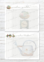 printable vegetable garden planner or binder inserts