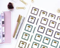 printable weight loss tracking planner stickers