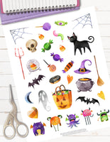 Trick or Treat Yo Self Printable Halloween Planner Stickers