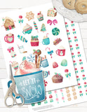 Sweet Christmas Printable Planner Stickers