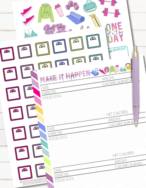 printable fitness planner