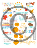 Thanksgiving Stickers for the Happy Planner or Crafting