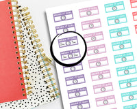 printable work schedule planner stickers