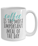 Funny Gifts for Coffee Addicts - 15 oz White Coffee Mug