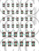 christmas coffee planner stickers