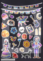 day of the dead planner stickers dia de los muertos halloween