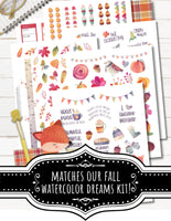 Printable Fall Bucket List Planner Stickers for Planner Decorating happy planner or erin condrean