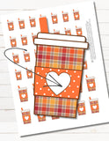 fall coffee planner stickers