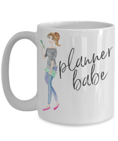 Gifts for planners - Simple Planner Babe 15 oz Coffee Mug