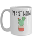 "Best Gifts for Gardeners - 15 oz White ""Plant Mom"" Mug"
