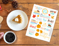 Thanksgiving Quotes Planner Stickers for Planner Decorating