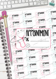 printable doctors appointment planner stickers reminder