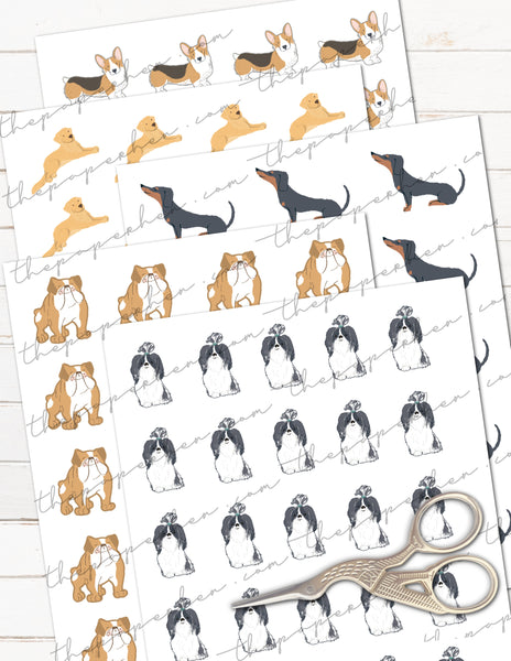 printable dog care stickers