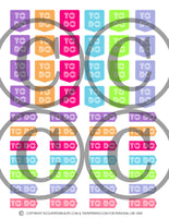 Printable Functional Planner Stickers- Redate, Boxes, Work Schedule, Appointments & More!