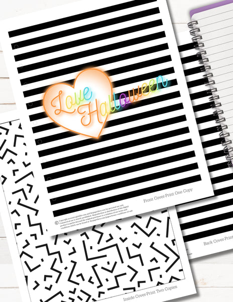 halloween happy planner cover printable