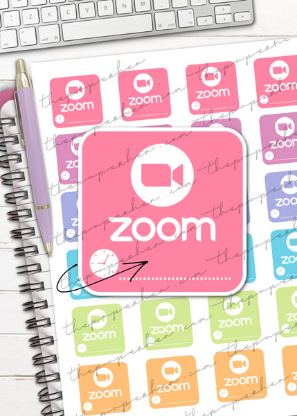 printable zoom meeting planner stickers